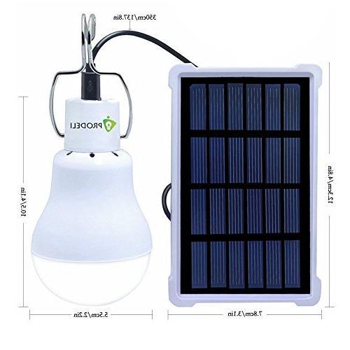Solar Bulb PRODELI LED Lantern Bulb Camping Hiking Fishing Solar Emergency 150LM 1600mA