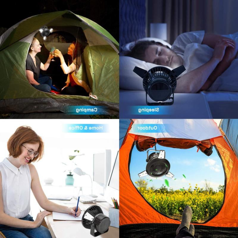 Solar Camping Fans Tents