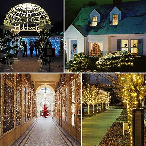 Vmanoo Solar Lights, 72 Feet Meter 200 8 String Lights, Fairy Xmas Indoor Thanksgiving 2 Pack