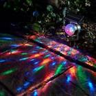 Solar Colorful Rotating LED Projector Outdoor Garden Lawn La
