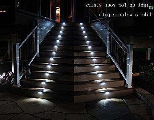 3 Step Lights Outdoor Lighting Paths On/Off Waterproof 4