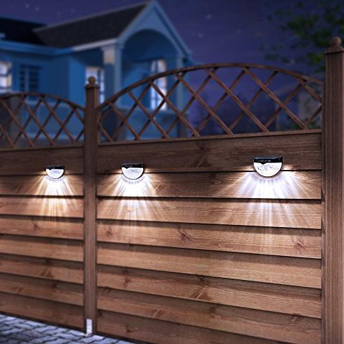 OTHWAY Fence Post Lights Deck Black, 4 Packs