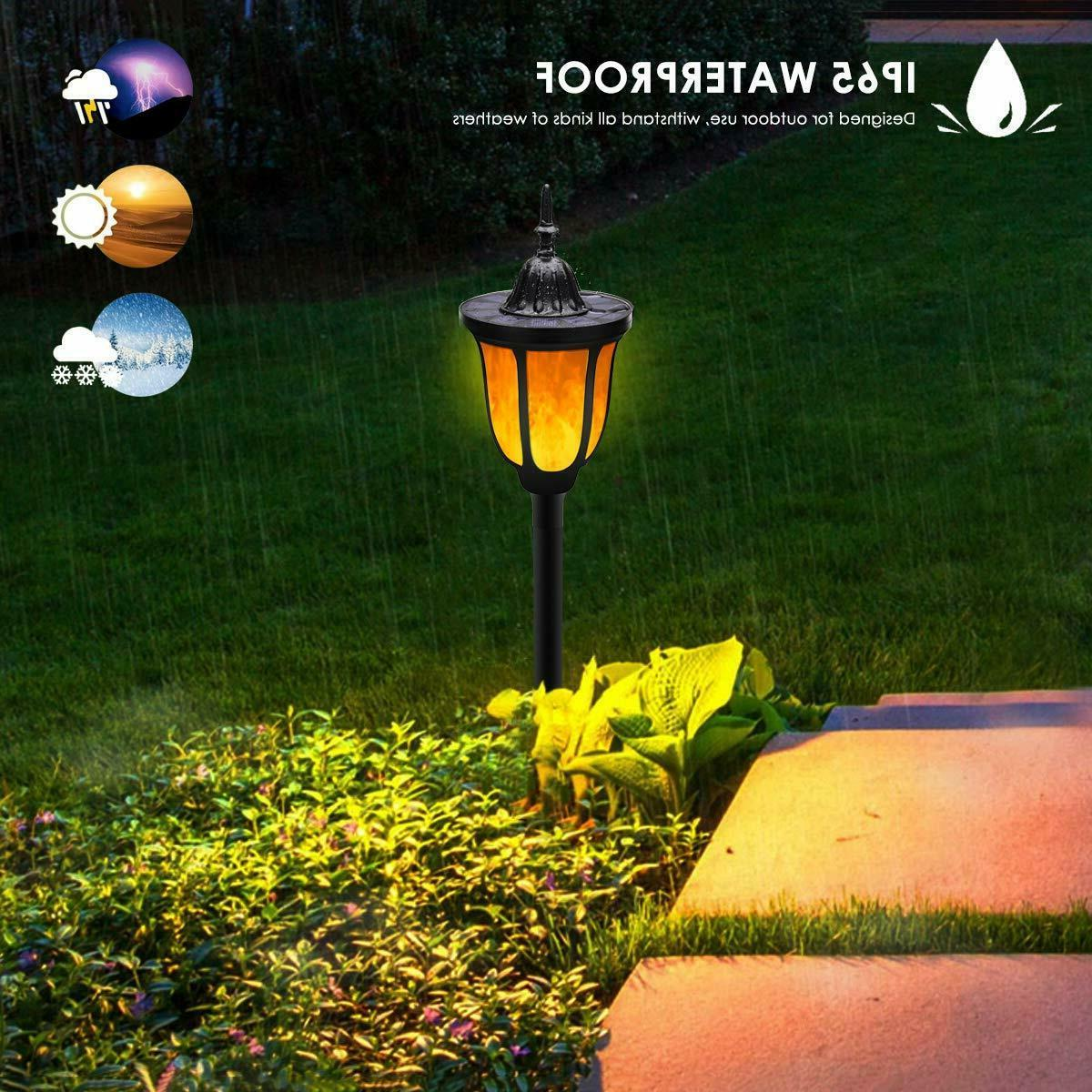 Solar Flame Waterproof Flames Solar Garden Spotlights