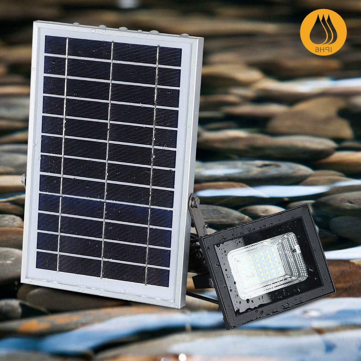 Solar Lights Remote to Security Light 6W 800 LM