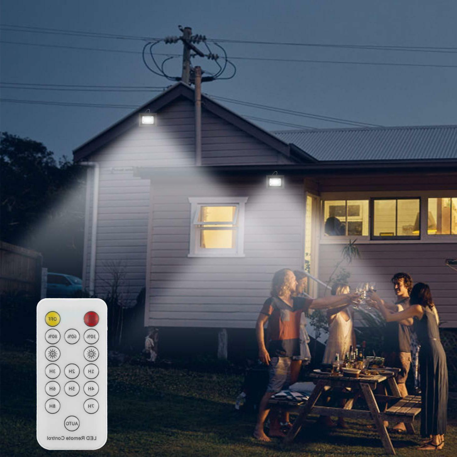 Solar Flood Remote Security Light with 800 42