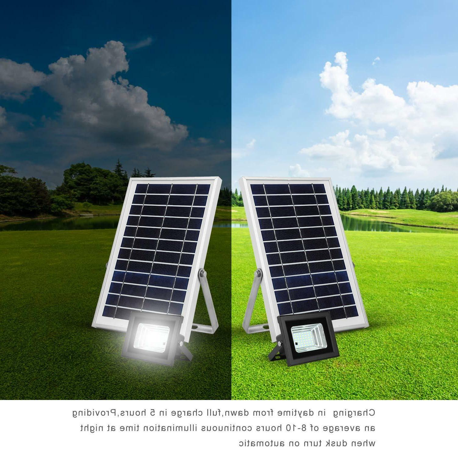 Solar Lights Remote to Security Light with 6W 800 Dual