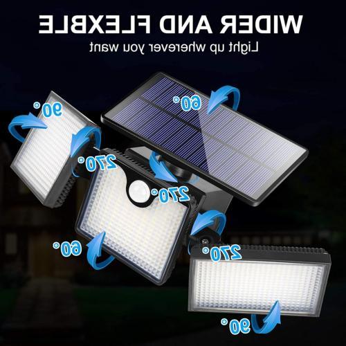 URPOWER Solar Outdoor 226 LED 3 Heads Se...