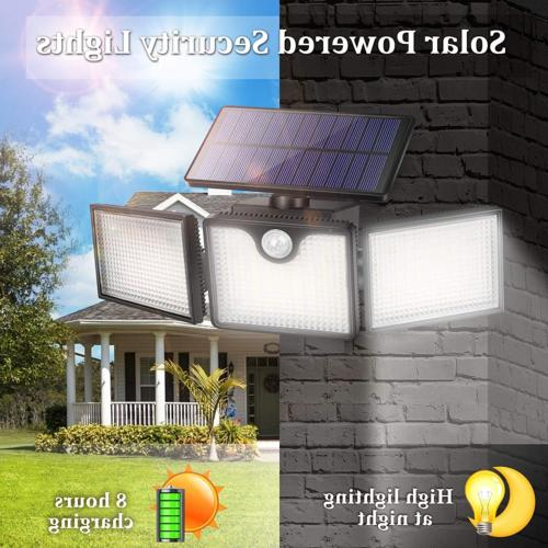 URPOWER Solar Lights Outdoor LED Heads Solar Se...