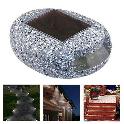 Solar Stone Waterproof Rock Lght White LED Y3Y9