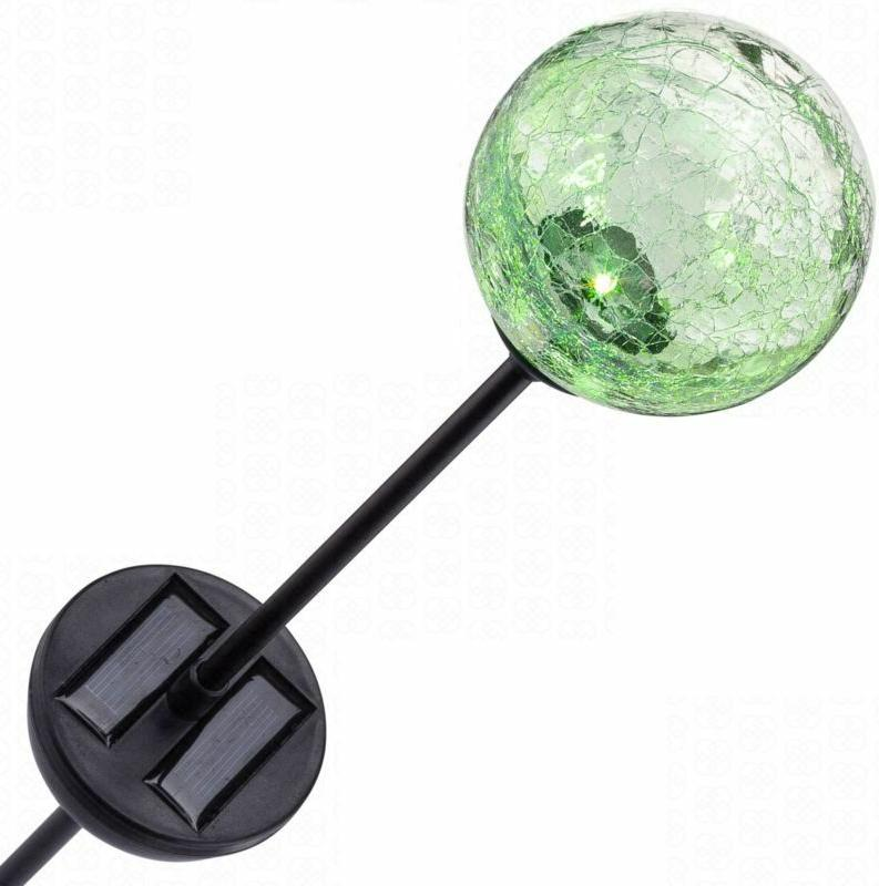 Solar Glass Ball Garden Lawn Stake Light LED Color Changing