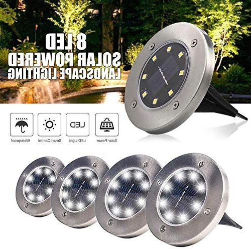 Solar LED Disk Waterproof Garden Pathway in-Ground with Sensor