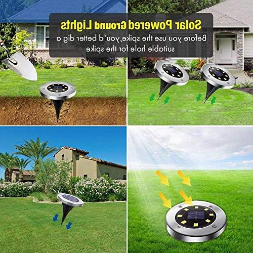 Disk Lights Solar Waterproof Pathway in-Ground Lights with Sensor