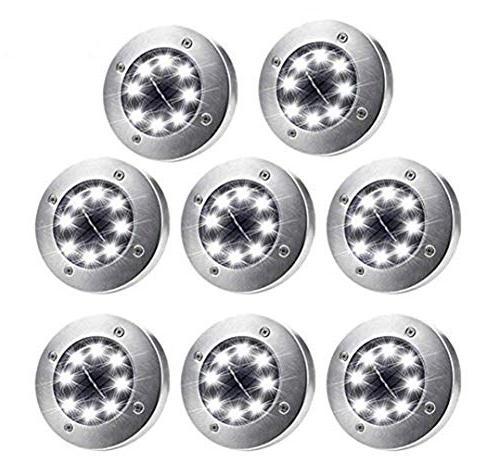 solar ground lights 8 packs