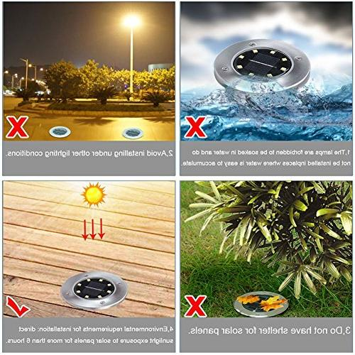 Recod Solar Solar Outdoor Light,Waterproof Sensing Landscape for Lawn Yard Driveway Area,White,Work Time