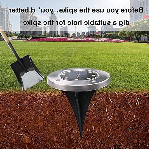 Recod Solar Solar Light,Waterproof Sensing Landscape for Lawn Pathway Driveway Patio Walkway Area,White,Work Time