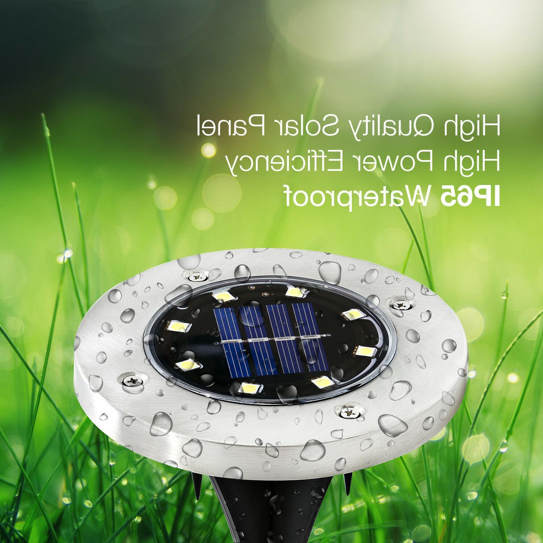 4 Solar Ground Lights, Yard Outdoor In-Ground 8
