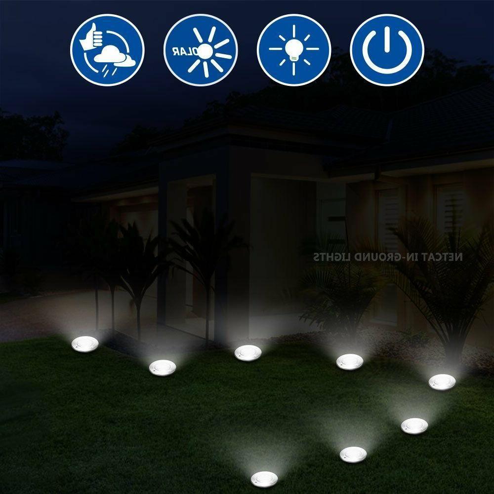 Solar Lights,Garden Pathway Outdoor In-Ground 12