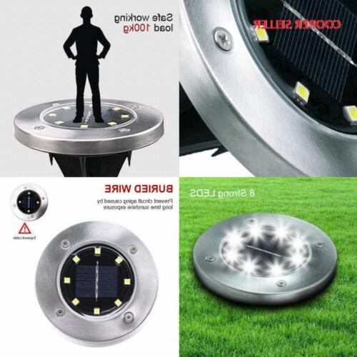 Solar Pathway Outdoor In-Ground Lights 8 LED