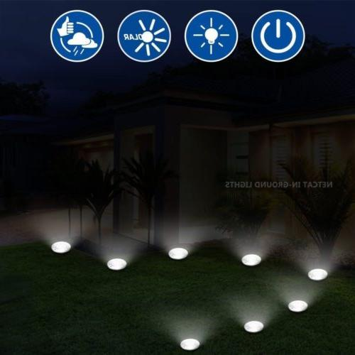 Solar Lights,Garden Outdoor In-Ground Lights 8 LED
