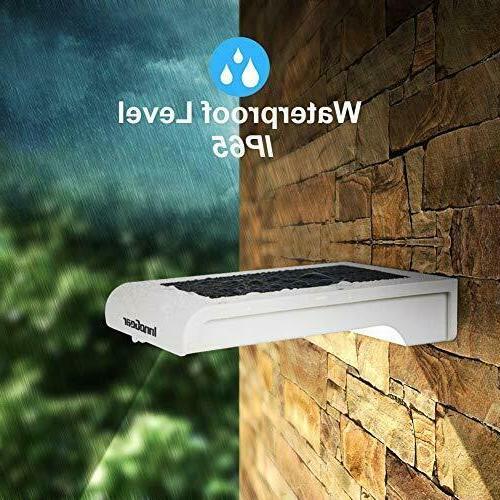 Solar Gutter Lights 4 Pcs Led Street Wall Pole Waterproof Sensor