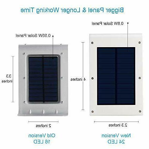 Solar Gutter Lights Pcs Led Street Pole Waterproof Motion Sensor