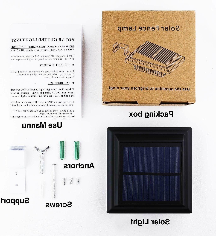 Solar Gutter Lights Outdoor 25 LEDs Warm White