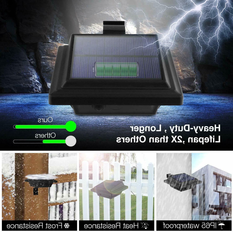 Solar Gutter 25 LEDs Garden Waterproof Warm White