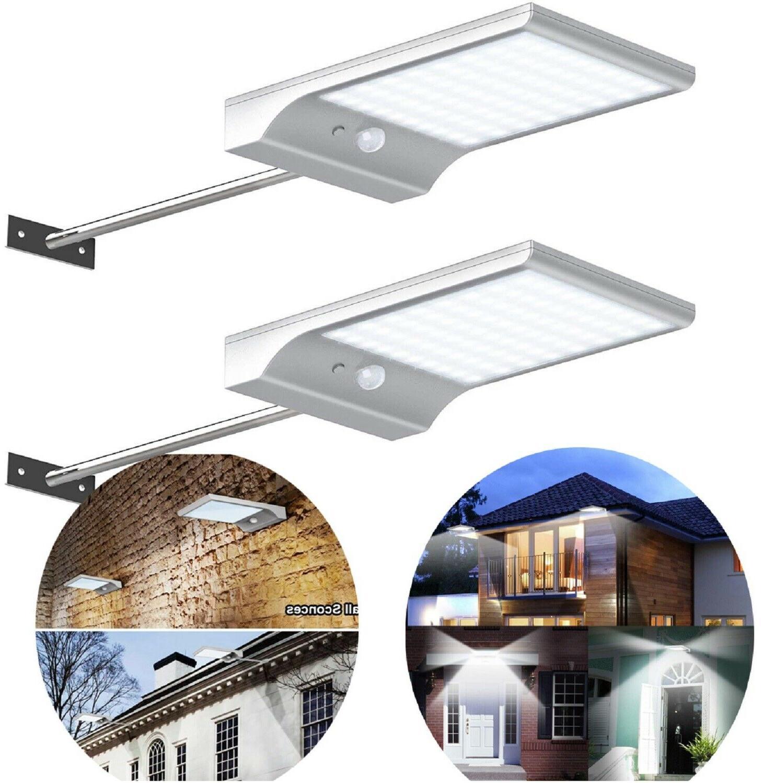 solar gutter lights wall sconces light security