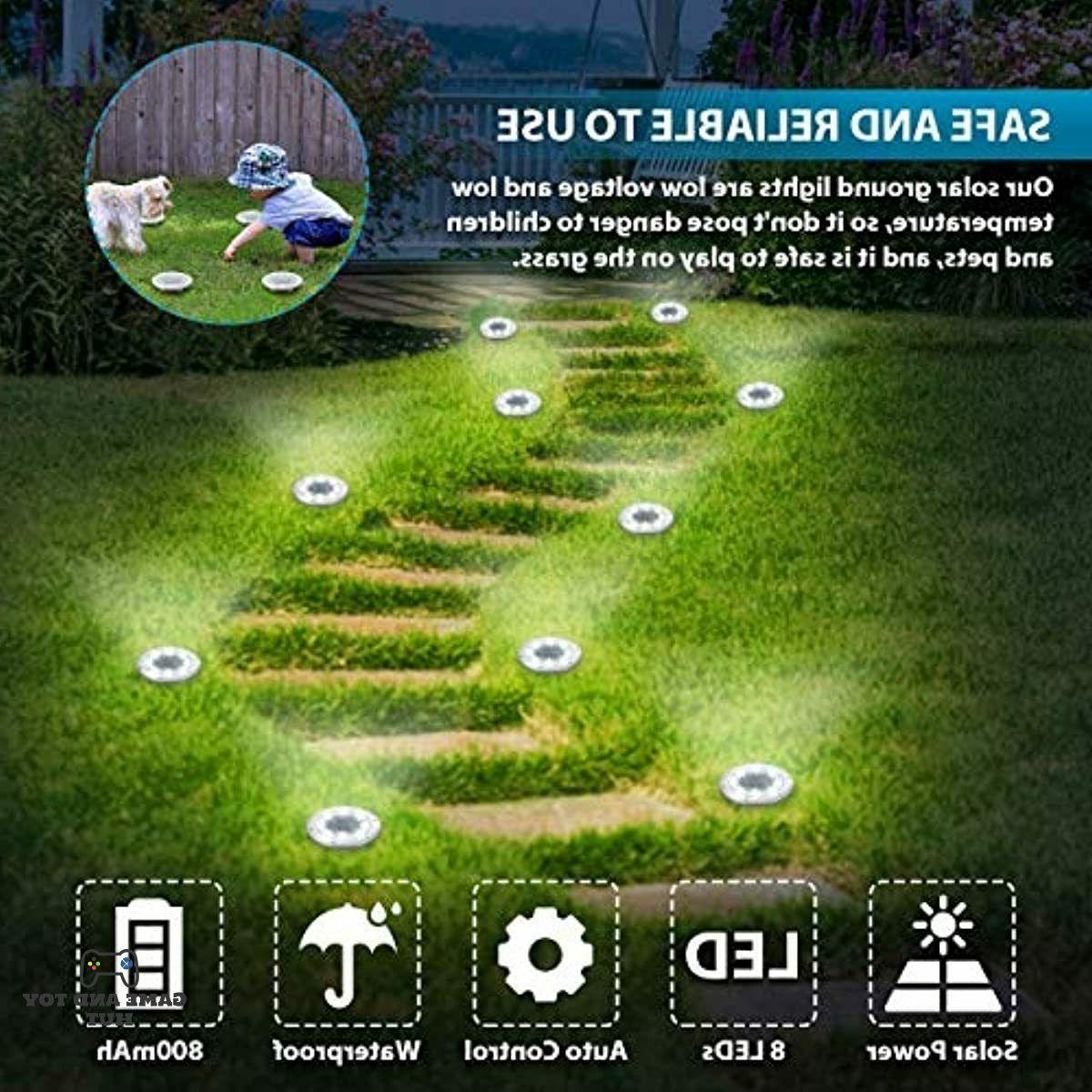Solar ground 8 Outdoor Solar Lights