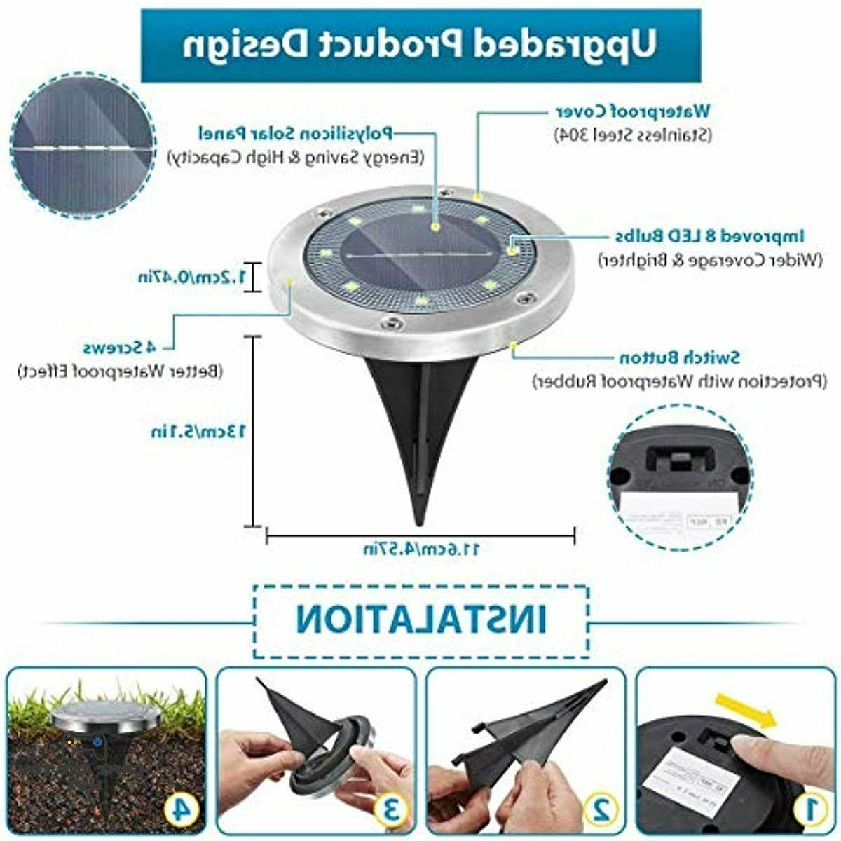 Solar 8 Solar Outdoor Solar Lights