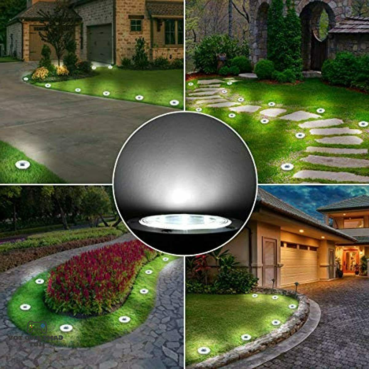 Solar ground 8 LED Outdoor Solar Lights