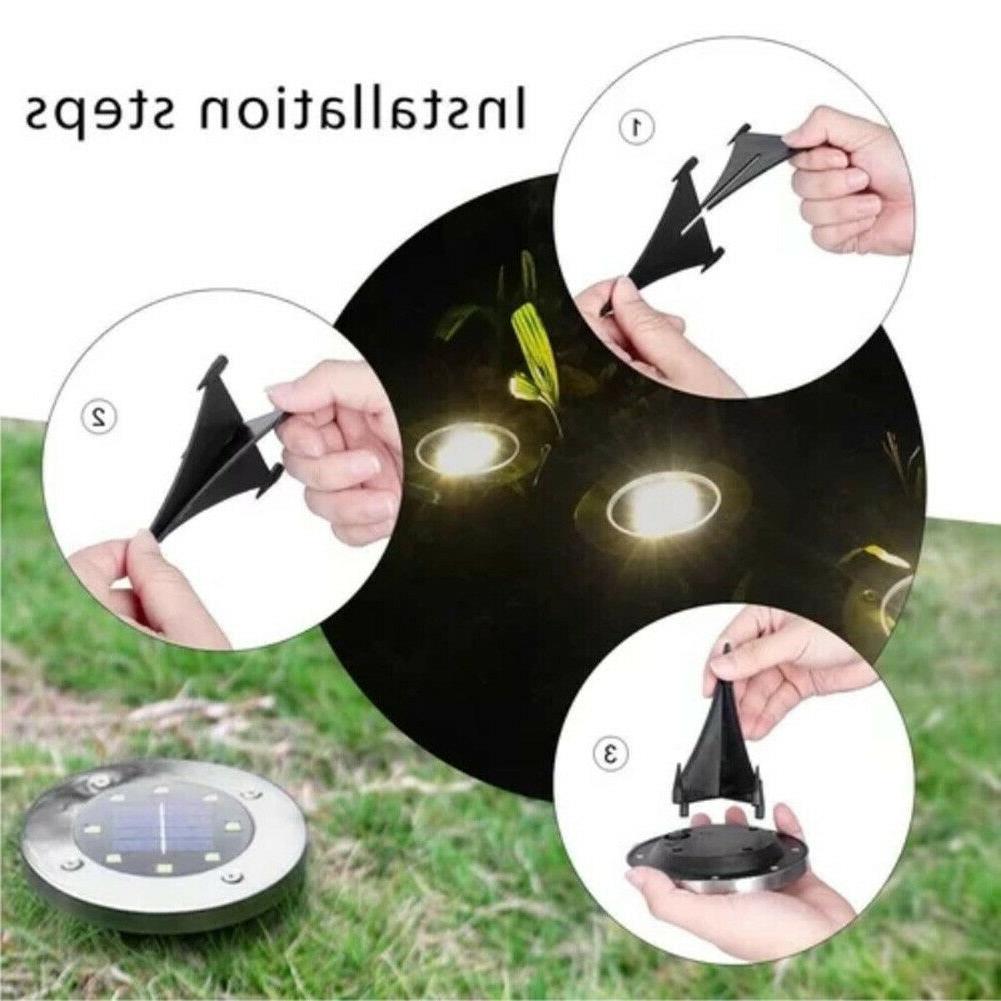 Solar 8LED Lights 2 PCS Lights