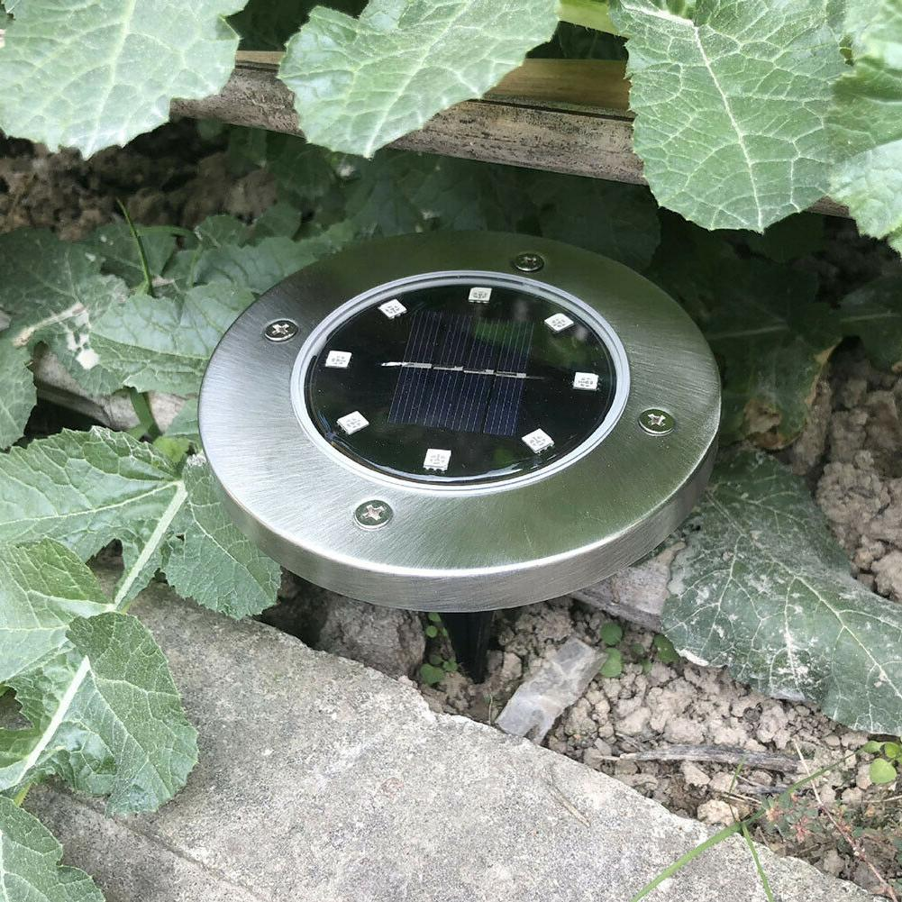 Solar In 8LED Powered Outdoor Lights Lights