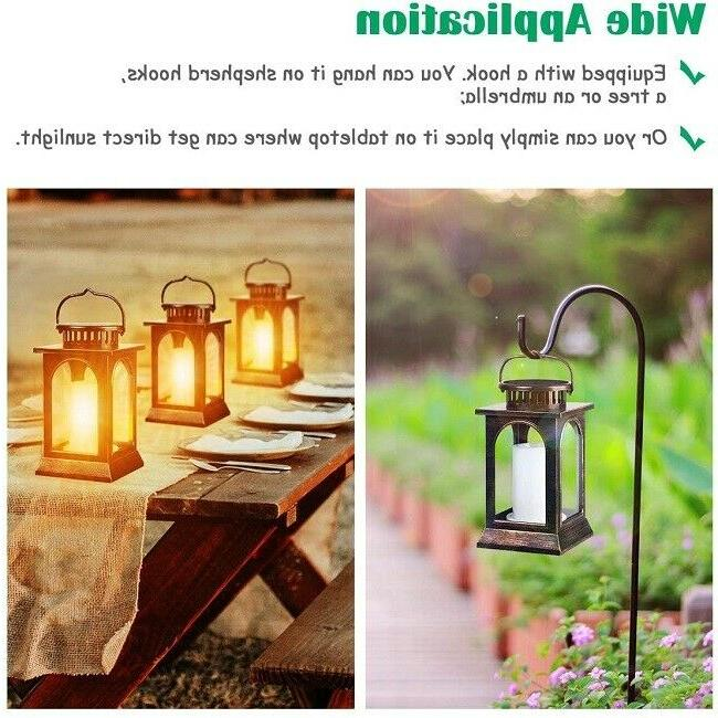 Solar Flame Hanging Bronze 2 Pack