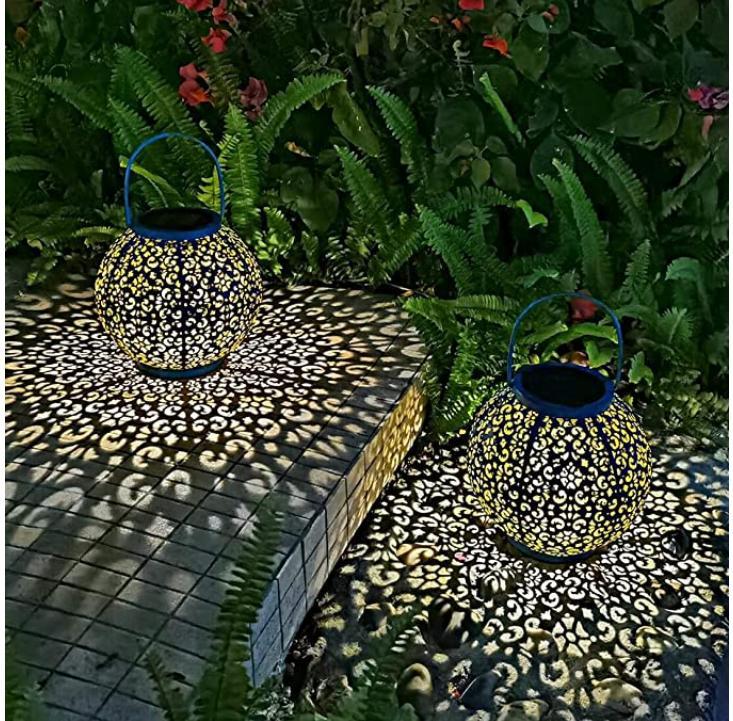 Solar Large Lantern Hanging Metal Garden