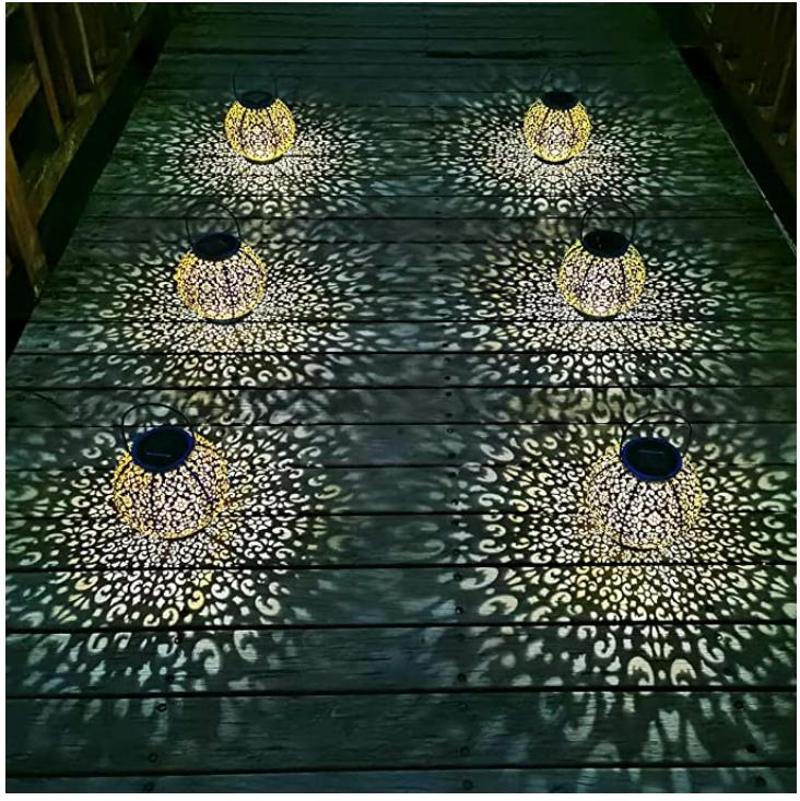 Solar Large Outdoor Hanging Garden Lights