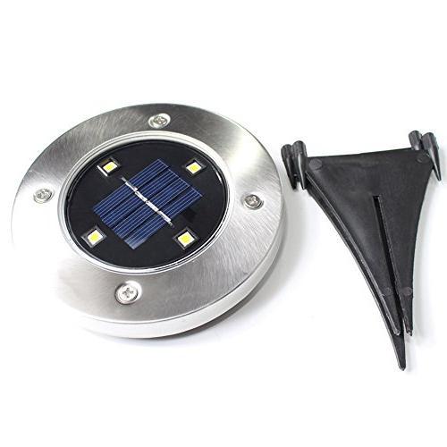 Solar Uplight LED Waterproof Gardern Back Yard Grassland, Patio, Area Lighting Powered 4