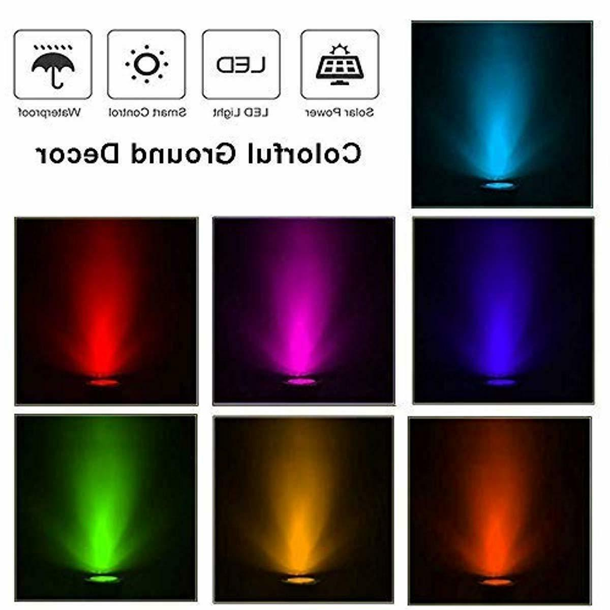 Solar Outdoor In-ground Lighting 7 Color Chan