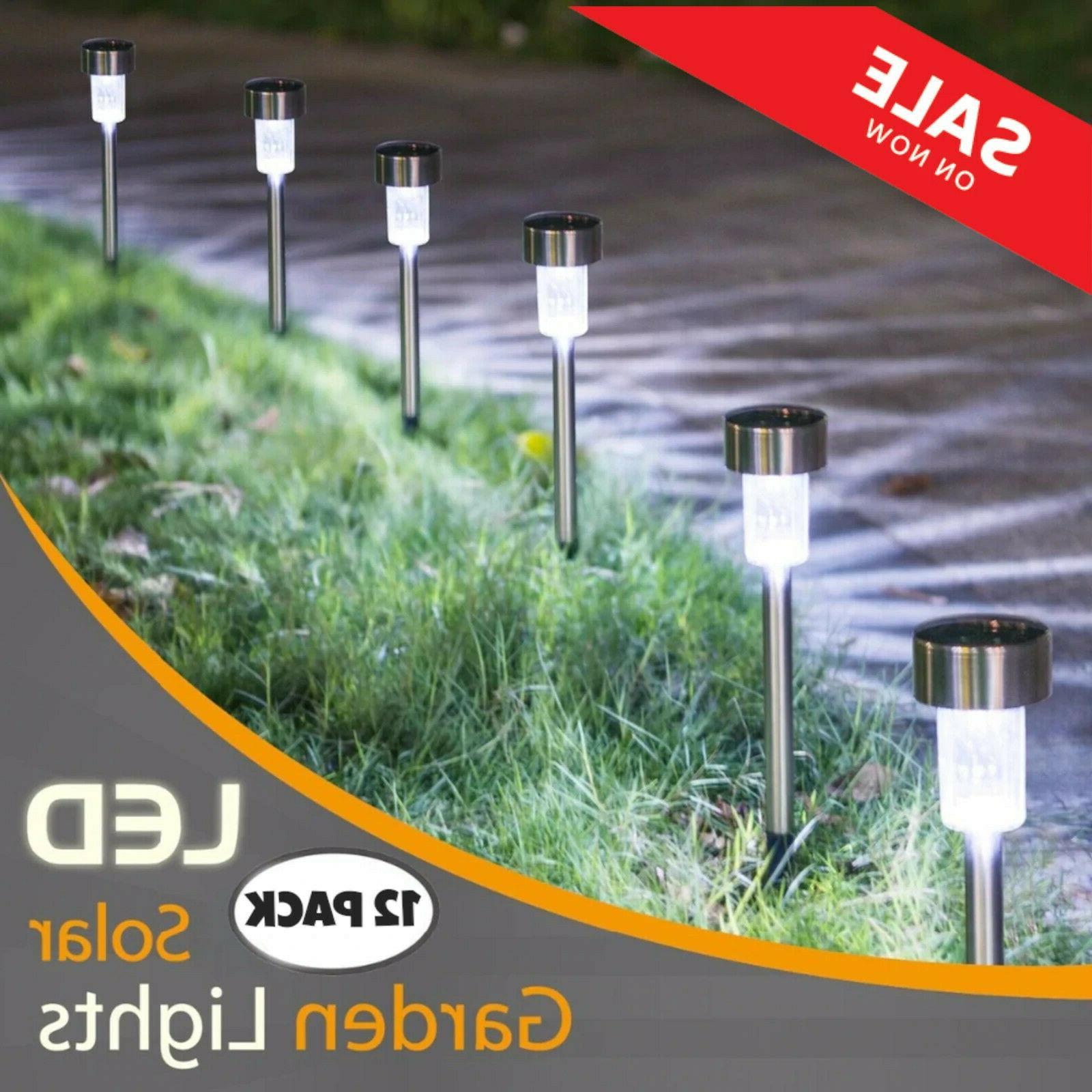 solar led pathway lights set outdoor path