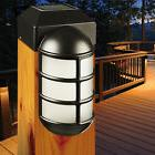 Solar LED Post Cap Light Fits 4x4 Posts Weatherproof Path La