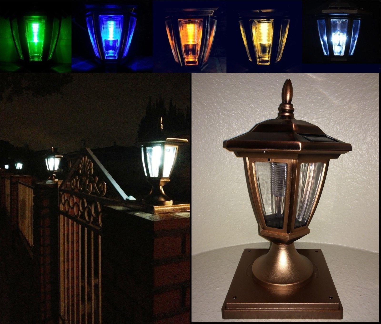 solar light copper color post cap led