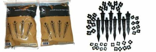 Solar Light Ground Stakes Black 2 pack by Hampton Bay