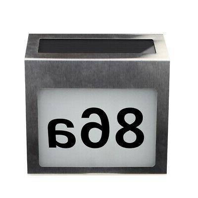 Solar Lighted Address Signs House Number For House Street Ma