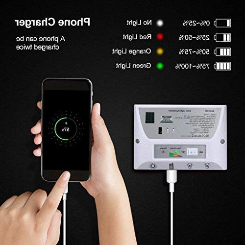 YINGHAO Solar system- x Solar Panel, / Battery, Controller, USB Port with Cell Phone Chargers
