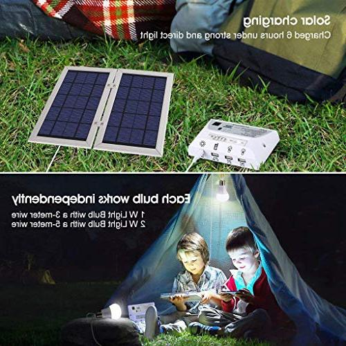 YINGHAO system- comparable lights, Solar Panel, Battery, Charge Port Chargers