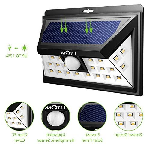 LITOM LED Lights Outdoor, Super Wide Security Light Door, Yard, Porch, Shed,