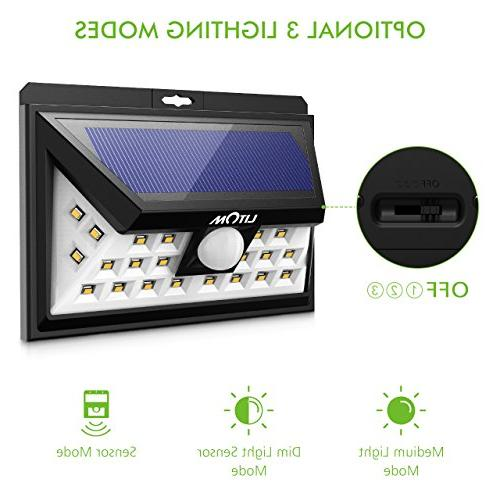 LITOM Lights, LED Sensor Solar Lights Outdoor, Super Bright Angle Security Light for Front Door, Yard, Porch, Shed, Walkway,