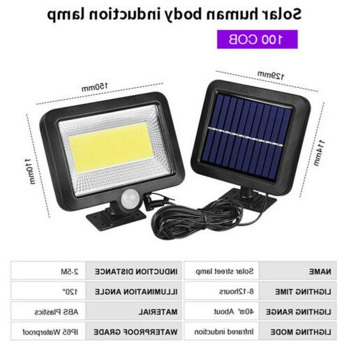 100 Solar Power PIR Motion Outdoor Light Security Lamp