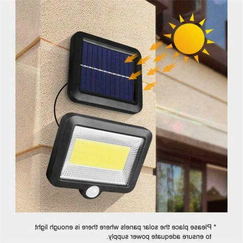 100 Solar PIR Outdoor Light Security Flood Lamp