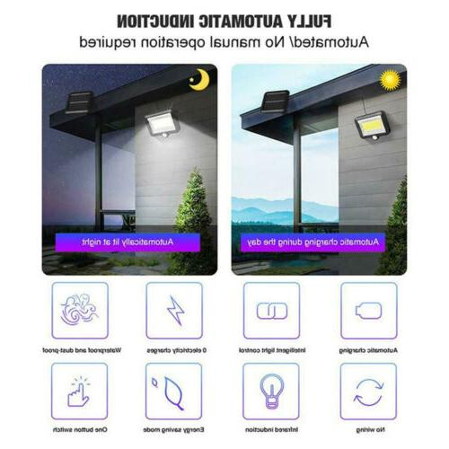100 Solar Power PIR Motion Light Security